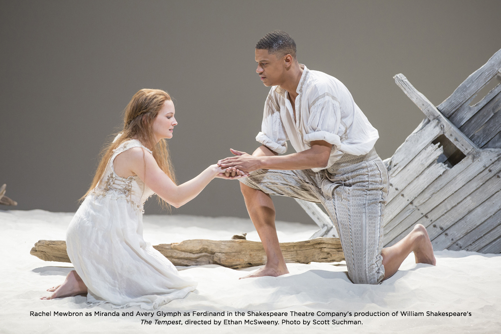 Avery Glymph in The Tempest at the Shakespeare Theater Company in Washington DC